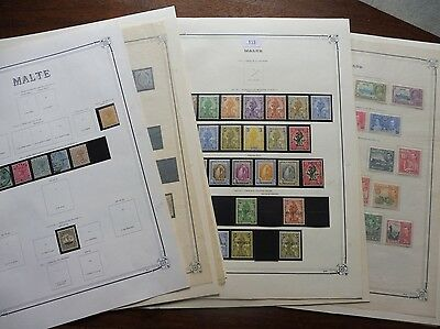£££ MALTE - collection timbres stamps majorité MH*  1860 / 1958 - HIGH CV