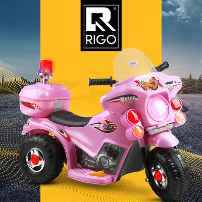 RIGO Kids Ride On Motorcycle Motorbike Toys Electric Battery Powered Police Car
