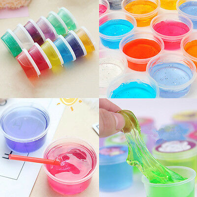 1PCS Crystal Clay Rubber Mud Intelligent Hand Gum Plastic Slime Kid Box Toy Gift