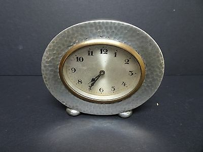 Art Nouveau Tudric Pewter Desk Clock. 01590