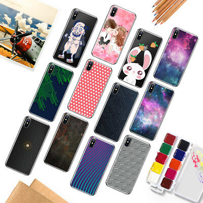 Silicone Patterned Soft TPU Transparent Back Case Cover For iPhone 6s 5 7 8 Plus