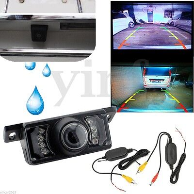 7 IR Wireless Car Rear View Camera Reverse Backup Night Vision Parking Cam 2.4G