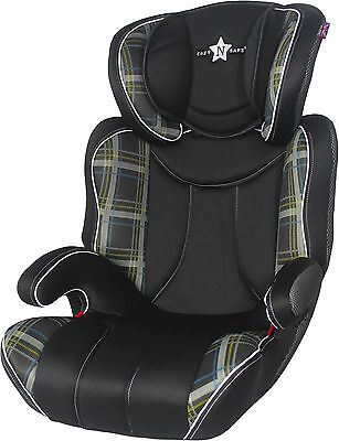 Cozy N Safe K2 High Back Booster Car Seat Group 2-3 - Black Check A