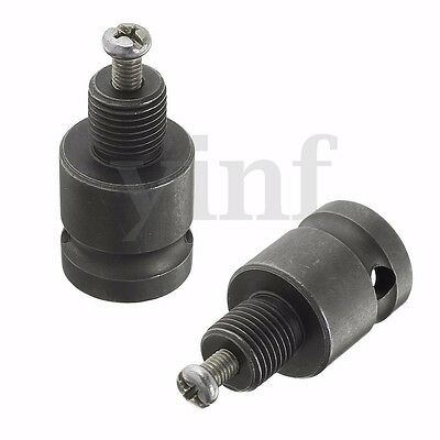 1 PCS 1/2'' Drill Chuck Adaptor For Impact Wrench Conversion 1/2-20UNF Grey
