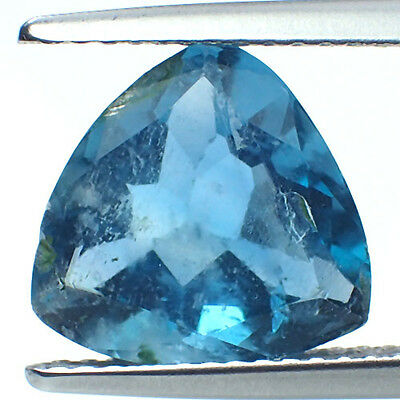 Blue Green Natural Fluorite 4.55Cts Trillion Shape 11x11mm AAA jewelry Gemstone