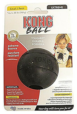 Dog Tough Rubber Ball Fetch Chew Toy Puncture Resistant, Small