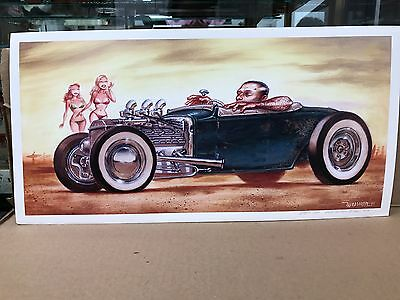 """2006 Signed Keith Weesner Hotrod Print Call Of The Wild  20"""" X 10"""""""