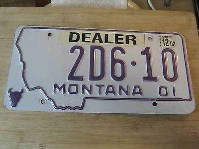 2002 MONTANA LICENSE PLATE EXPIRED 2 d 610