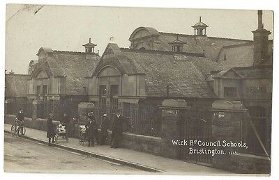 BRISLINGTON Wick Road Council Schools, RP Postcard by Viner, Unused