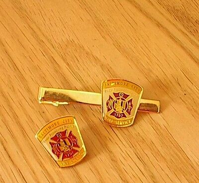 Miniature Pin and Tie Bar - Baltimore City Fire Department - Uniform Patch
