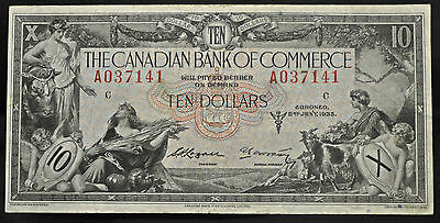 1935 Canadian Bank of Commerce $10 - Fine
