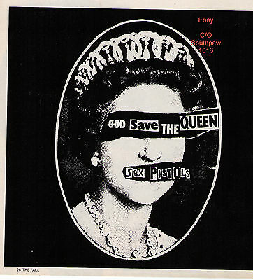 "The Sex Pistols ""God Save The Queen"" Record UK Print Advertisement"