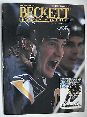 Beckett Hockey Guide Price Issue # 30 April 1993 Mario Lemieux Cover Page