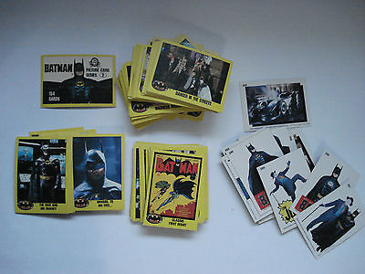 Batman Complete Set 154 Trading Cards Topps 1989 ( Series Two) Puzzle Included