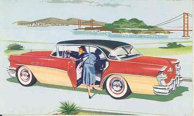 1955 Buick 43 Special 4 Door Riviera ORIGINAL Factory Postcard mx9784
