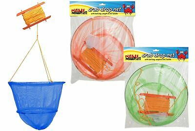 Nalu Kids Adults Sea Beach Crab Fishing Drop Net Rod Spring Loaded Bait Trap