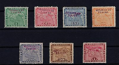 P25816/ Panama / Stanley Gibbons # 36 – 38 / 41 – 70 – 72 Neufs / Mint 102 €