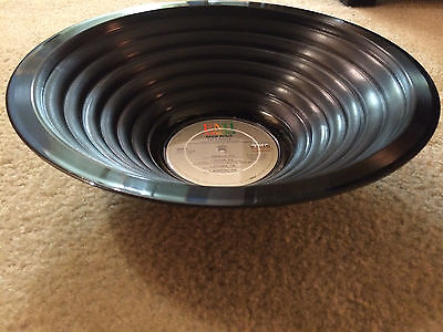 *NEW* Handmade DAVID BOWIE LET'S DANCE Upcycled Vinyl Record LP Decorative Bowl