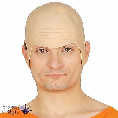 Deluxe Thick Rubber Bald Head Skull Wig Cap Uncle Fester Fancy Dress Costume Hat