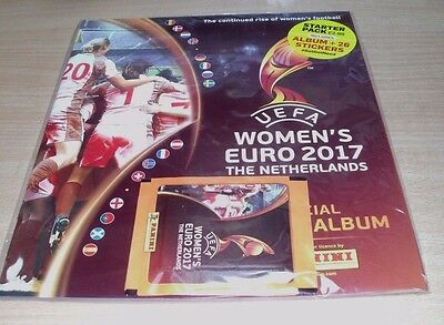 Panini UEFA Women's Euro 2017 Stickers collection Starter Pack; Album + 26