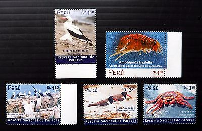 PERU 2001/2 Birds & Crabs SG2098/2123-6 U/M NB1016