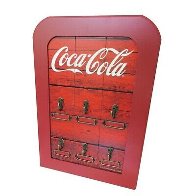 Coca Cola Key Holder Rack Cabinet Wood Style Official Merchandise Coke New Perth