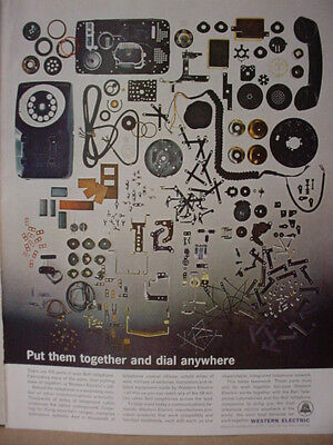 1963 Western Electric Telephone See all the Phone Parts Vintage Print Ad10365