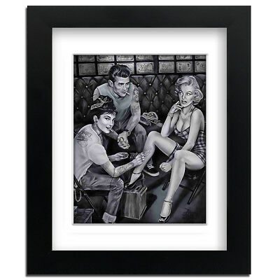 James Dean Tattoo - Street Art - professionally Framed art print with mount