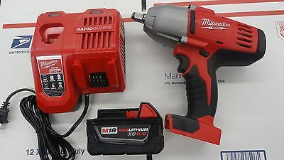 "Milwaukee 2663-22 18 Volt 1/2"" Drive High Torque Impact Wrench Kit 2663-20"