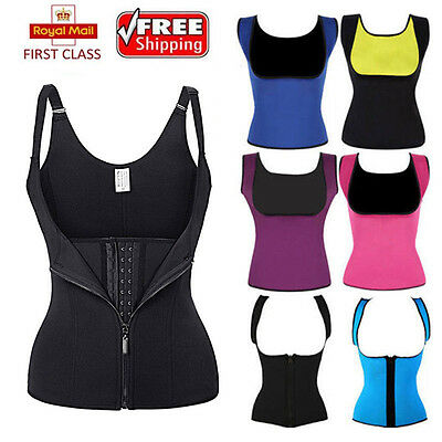 Women Body Shaper Neoprene Waist Trainer Cincher Workout Corset Shapewear Vest