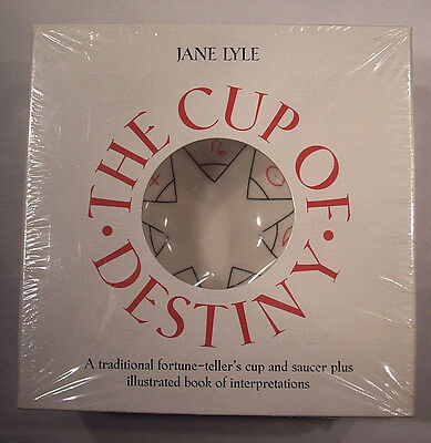Cup Of Destiny Jane Lyle Cup, Saucer & Fortune-Telling Book Never Used (sealed)