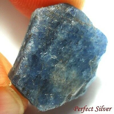 NICE! 17.75 ct. Unheated 100% Natural Rough Blue Sapphire @ Free ship