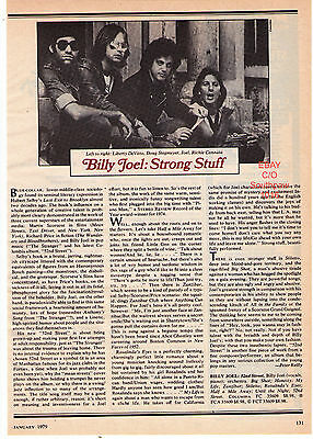 """1979 Billy Joel """"52nd Street"""" Record Album Review Photo Article"""