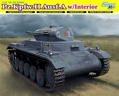 Dragon Model Kit - Pz Kpfw II Ausf A w/ Interior Tank - 1:35 Scale - 6687 - New