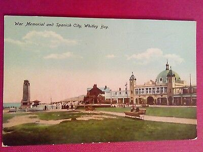 Postcard War Memorial And Spanish City Whitley Bay Postally Used