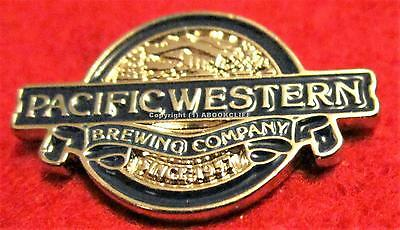 PACIFIC WESTERN BREWING COMPANY PRINCE GEORGE B.C. Pin Mint BEER