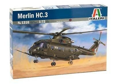 Italeri Model Kit - Merlin HC 3 Helicopter - 1:72 Scale - 1316 - New