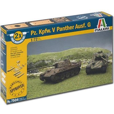 Italeri Model Kit - Pz. Kpfw. V Panther Ausf. G Tank - 1:72 Scale - 7504 - New