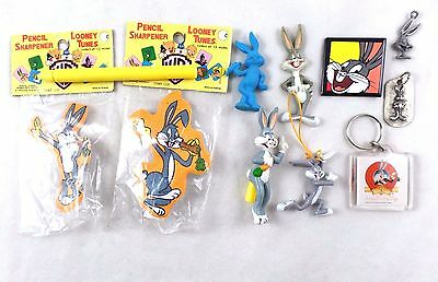 wb Bugs Bunny 10 ITEM LOT Charms Magnets ++ Looney Tunes Warner Brothers Bros