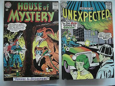 DC COMICS HOUSE OF MYSTERY  # 137 AND UNEXPECTED  # 85 PRINTED IN U.S.A. 1960's