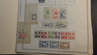 Greenland stamp collection on Minkus pages to '88 + Int'l and FDC's