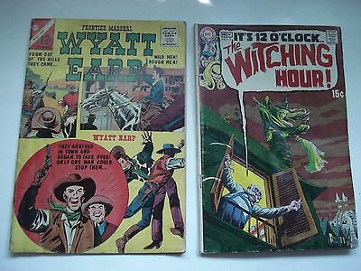DC COMICS WYATT EARP  # 46 AND THE WITCHING HOUR # 5 PRINTED IN U.S.A. 1960's
