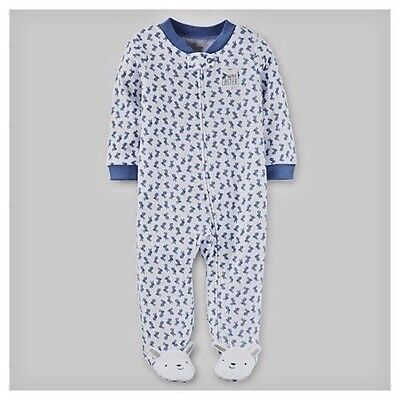 Newborn Just One You Carter's my first Easter bunny footed Outfit Blue
