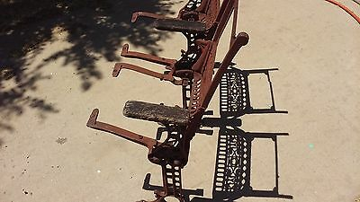 Old Vintage Folding Theater Seats paired the wood backs and seats missing
