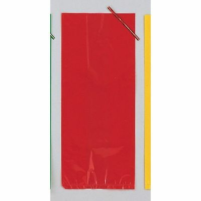 Red Cellophane Party Loot Bags with tie, pack of 30