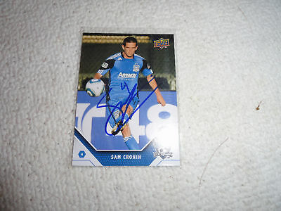 San Jose Earthquakes Sam Cronin Autographed 2011 Upper Deck MLS Card