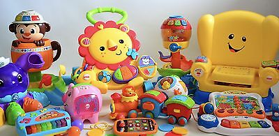 Huge Bundle Of Baby Toddler Toys Vtech Disney Fisher Price Etc