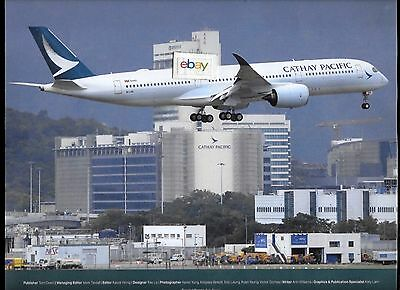 Cathay Pacific Airways Airbus A350-900 2 Sided B/w Aerospace 2016 Intro Ad