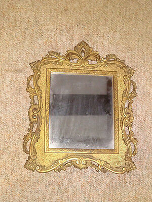 Antique cast iron gilt victorian mirror frame wall mount  Great piece,