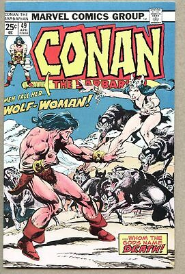Conan The Barbarian #49-1975 vf/nm John Buscema Neal Adams